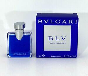 BVLGARI BLV POUR HOMME FOR MEN EAU DE TOILETTE  5 ML 0.17 FL.OZ. MINIPERFUME