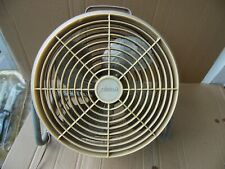 "GE Phoenix Vintage 15"" One Speed Four Blade 1550 Rpm Electric Shop Fan USA"