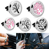 Stainless-Steel Car Vent Clip Locket Scent Essential Oil Diffuser Air Freshener.