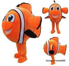 Nemo Fish Mascot Costume Swimming Fancy  Feeling Halloween Dress Adults size new