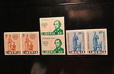 Liberia 1965 #423-425 Abraham Lincoln Imperf Proof MNH OG Rare