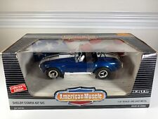 ERTL 1/18 DIECAST SHELBY COBRA 427-SC BLUE/WHITE STRIPES