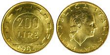 200 LIRE 1985 LAVORO REPUBBLICA ITALIANA ITALY Fdc Unc (da rotolino) £31