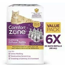 New listing Comfort Zone Pheromone Technology Calming Diffuser Refills for Cats-New (6 pack)