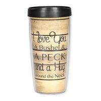 I Love You a Bushel and a Peck 16 Oz Tumbler Mug with Lid