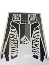 Rockshox Pike Graphics,Black and White, Enduro, DH Decals and Stickers