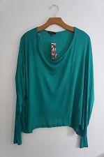 New Soprano Long Sleeve Palm Green Womens Blouse Top Shirt Size Medium
