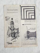 VINTAGE SCARCE HEINEKEN BEER/PILOT PEN MULTI PAPER ADV. SIGN BOARD