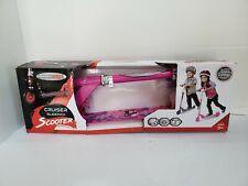 New Chrome Wheels Girls Pink Cruiser 2 Wheel Glidekick Scooter