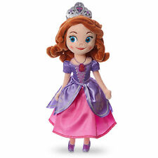 "Disney Store Deluxe Princess Sofia the First Pink Dress Plush Toy Doll 13"" Tall"