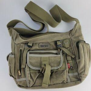 Diesel Crossbody Bag Shoulder Messenger Green Military Color Canvas Medium