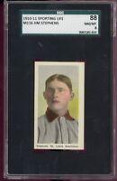 1910-11 M116 Sporting Life JIM STEPHENS St. Louis Browns NM/MT 8 SGC