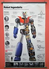 Fabric Poster Features Of Mazinger Weapons And Characters.[Very Rare].