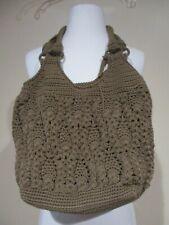 The SAK brown woven purse handbag +