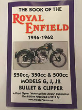 ROYAL ENFIELD G J J2 BULLET CLIPPER 230 350 500 BOOK OF WORKSHOP MANUAL 1946-62