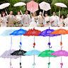 Vintage Handmade Cotton Parasol Lace Umbrella Party Wedding Bridal Decoration