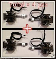 [X4 pcs] 2 paires de clignotants Croix De Malte Noir à LED / turn signal cross