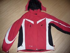 Winter - Snowboard Jacke  FST  Gr.L  rot-schwarz-weiß  mit abnehmbarer Kapuze