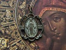 Antique Vintage Madonna of the Roses St. Michael the Archangel Medal Pendant
