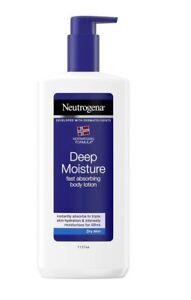 NEW Neutrogena Norwegian Deep Moisture Body Lotion Dry&Sensitive Skin 400 ml UK