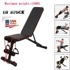 Adjustable Weight Bench Decline Incline Full Body Workout Gym Exercise 150KG