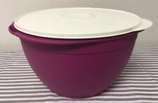 Tupperware Large Maxi  Mixing Bowl 42 Cup Plum w/ Ivory Seal New