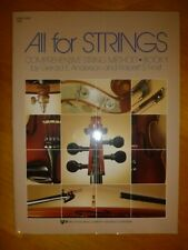 All For Strings Book 1 - String Bass Composed by Gerald Anderson . 78Sb