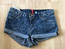 H & M, EUR 36, UK 8, WOMENS BLUE DENIM SHORTS, HOPTPANTS, PRE-OWNED