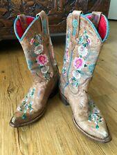 Macie Bean I Never Promised You a Rose Garden Youth4 Leather Boho Embroider Boot