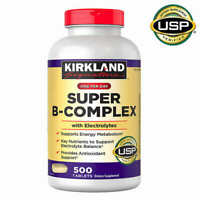 Kirkland Signature Super B-Complex with Electrolytes 500 Tablets FREE SHIPPING