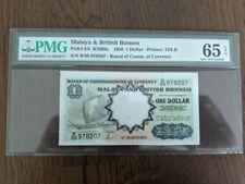 1959 MALAYA AND BRITISH BORNEO $1 CURRENCY  BANKNOTE PMG 65 Uncirculated