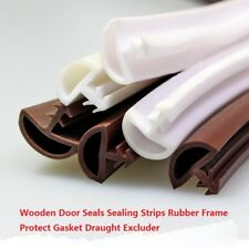 Wooden Door Seals Sealing Strips Rubber Frame Protect Gasket Draught Excluder