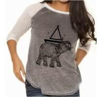 Spirit Animal Elephant Symbolic Spiritual Womens Raglan T shirt Baseball Tee