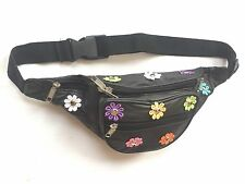 Leather Multi Coloured Daisy Bum Bag - Urban, 80's, 90's, Rave, Festival, Ibiza