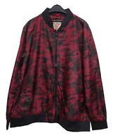 Nuevo Talla Especial Hombre Cazadora Chaqueta Camuflaje en Rojo Negro 3XL, 4XL,