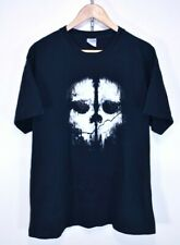 CALL OF DUTY GHOSTS BLACK T-SHIRT GAME TOP HEAVY COTTON T SHIRT MENS size XL