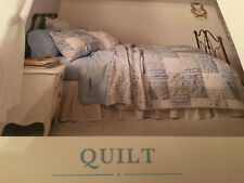 NEW Simply Shabby Chic Blue and White Patchwork KING Size Bed Quilt Cover