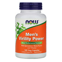 Now Foods Men s Virility Power 120 Veg Capsules GMP Quality Assured, Vegan,