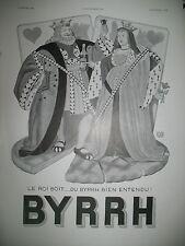 PUBLICITE DE PRESSE BYRRH CARTE A JOUER ROI REINE DE COEUR PAR LEONNEC AD 1932