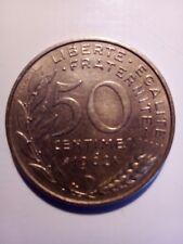 Pièces 50 centimes 1962 col 3 plis