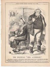 1885 Punch Cartoon Political Mrs Gummidge Gladstone