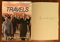 Hand Signed Book EDWARD HEATH - TRAVELS Prime Minister CHURCHILL ATTLEE + my COA