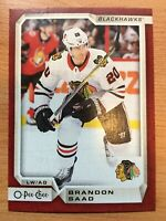 O-Pee-Chee 2018-2019 RED BORDER BRANDON SAAD HOCKEY CARD #386
