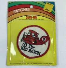 New ListingVintage Red Baron Patch New Unopened Sew On 1960s Snoopy Charlie Brown Patch Usa