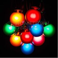 Assorted Color Globe G30, G40 and G50 Christmas Outdoor Patio String Light Sets