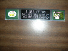 BUBBA WATSON (GOLF) NAMEPLATE FOR AUTOGRAPHED BALL DISPLAY/FLAG/PHOTO
