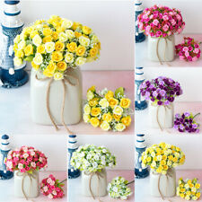 1 Bouquet 21 Heads Artificial Flower Faux Silk Rose Party Home Decor Wedding