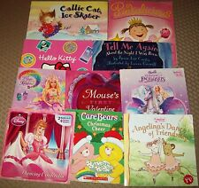 Lot of 10 ~  CHILDREN'S PICTURE BOOKS ~ BARBIE + ANGELINA + PINKALICIOUS + AR