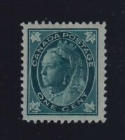 Canada Sc #67 (1897) 1c Queen Victoria Maple Leaf VF NH