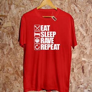Eat Sleep Rave Wiederholen T-Shirt Musik Tanz Ibiza Party Song Geschenk Kapuze